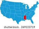 mississippi map | Shutterstock .eps vector #269223719