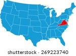 virginia map | Shutterstock .eps vector #269223740