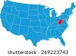 west virginia map | Shutterstock .eps vector #269223743
