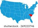 south carolina map | Shutterstock .eps vector #269223746