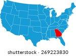 georgia map | Shutterstock .eps vector #269223830