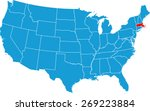 massachusetts map | Shutterstock .eps vector #269223884