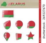belarus flag set  flag set  18. ... | Shutterstock .eps vector #269227670