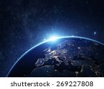 planet earth from the space at... | Shutterstock . vector #269227808