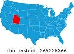 utah map | Shutterstock .eps vector #269228366