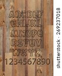 wooden alphabet letters and...   Shutterstock . vector #269237018