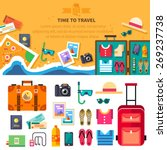 time to travel  summer vacation ... | Shutterstock .eps vector #269237738
