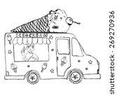 hand drawn sketch ice cream... | Shutterstock .eps vector #269270936