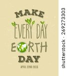 digitally generated earth day... | Shutterstock .eps vector #269273303