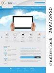 business website design... | Shutterstock .eps vector #269273930
