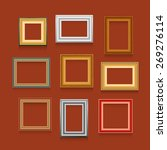 vector set of picture frames on ... | Shutterstock .eps vector #269276114