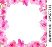 cherry blossom frame.... | Shutterstock .eps vector #269277863