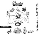 vector hand drawn pancakes... | Shutterstock .eps vector #269277980
