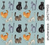 seamless pattern with different ... | Shutterstock .eps vector #269279933