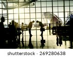 international airport business...   Shutterstock . vector #269280638