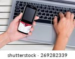 mobile phone  security system ... | Shutterstock . vector #269282339