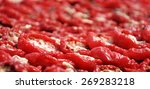 close up on tomatoes drying in... | Shutterstock . vector #269283218