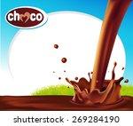 vector design frame with... | Shutterstock .eps vector #269284190