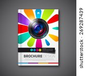 vector photography book or... | Shutterstock .eps vector #269287439