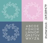 Set Of Line Art Vector Monogram ...