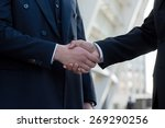 good deal. two confident... | Shutterstock . vector #269290256