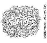 summer hand lettering and... | Shutterstock .eps vector #269292434
