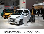 Small photo of GENEVA, MARCH 3: smart Brabus xcl car on display at 85th international Geneva motor Show at Palexpo-Geneva on March 3, 2015 at Geneva, Switzerland.