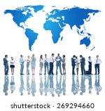 world global business concept | Shutterstock . vector #269294660