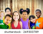 diversity children friendship... | Shutterstock . vector #269303789