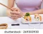 restaurant  food  people  asian ... | Shutterstock . vector #269303930