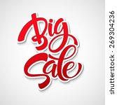 big sale inscription....   Shutterstock .eps vector #269304236