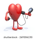 heart with arms and legs... | Shutterstock . vector #269306150
