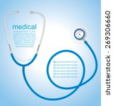 stethoscope background  medical ... | Shutterstock .eps vector #269306660