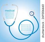 stethoscope background  medical ... | Shutterstock .eps vector #269306660