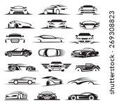 set of twenty one car icons | Shutterstock .eps vector #269308823
