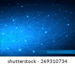 triangular tech background with ... | Shutterstock .eps vector #269310734