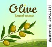 olive label  logo design. olive ... | Shutterstock .eps vector #269313854