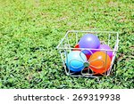 Many Color Balls Are In Basket...