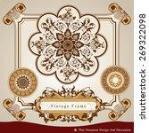 vector set of thai ornament ...   Shutterstock .eps vector #269322098