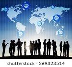 world global cartography... | Shutterstock . vector #269323514