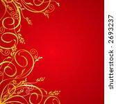 elegant golden floral... | Shutterstock .eps vector #2693237