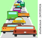 illustration with traffic | Shutterstock . vector #269330426