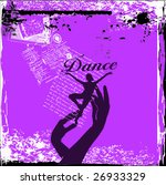 Dancer In Hands Grunge Vector