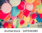 Colorful Balloons Floating On...