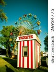 Ticket Booth In Front Of A...