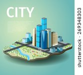 vector illustration of city... | Shutterstock .eps vector #269348303