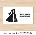 wedding invitation with profile ... | Shutterstock .eps vector #269350184