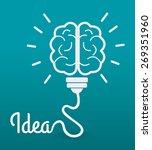 idea design over blue... | Shutterstock .eps vector #269351960