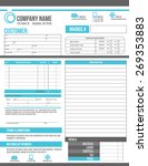 customizable invoice template...   Shutterstock .eps vector #269353883