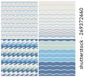 set of sea waves. seamless... | Shutterstock .eps vector #269372660